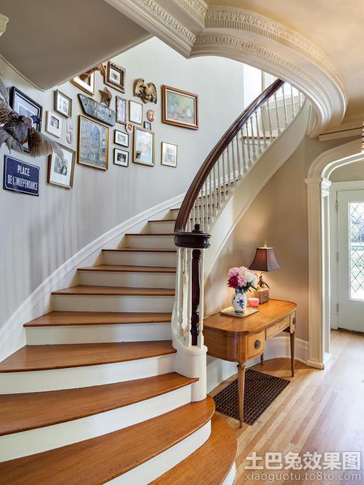 别墅楼梯间照片墙设计效果图 图片 hao123网