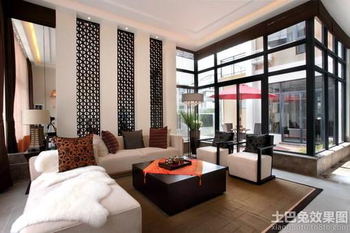 中式别墅大厅植树效果图网址_hao123别墅导图片什么大门门装修图片