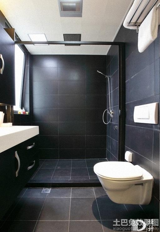 黑色卫生间瓷砖效果图 图片 Hao123网址导航