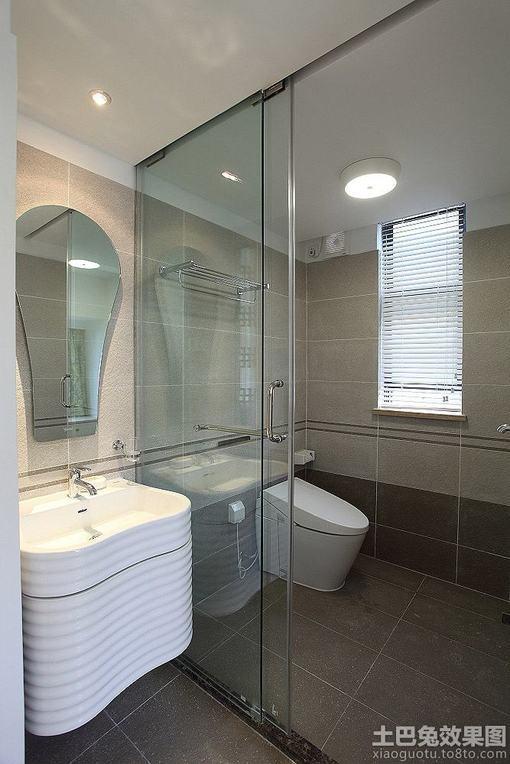家庭装修 卫生间玻璃隔断效果图 图片 hao123