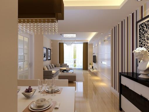 现代简约客厅地板砖装修效果图欣赏