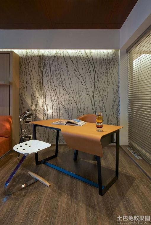 现代简约 风卧室 书桌效果图 hao123网址