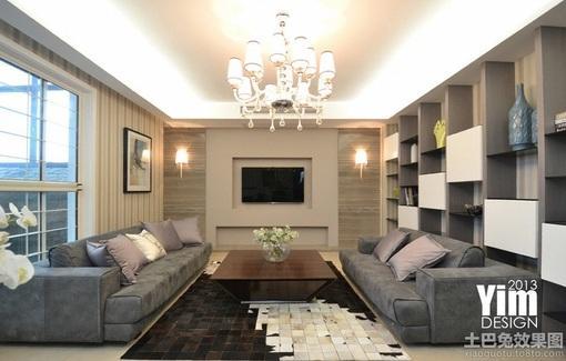 装修80㎡的现代简装婚房   查看更多客厅效果图客厅 电视背