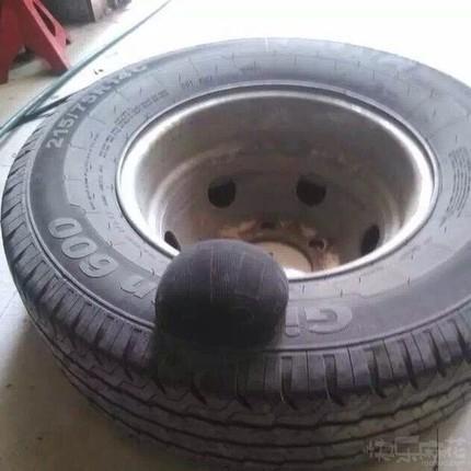 怀孕的轮胎,谁这么凶残?